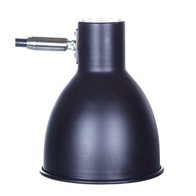 Lampka biurkowa stojąca HD1625 E27 czarna stołowa loft na biurko