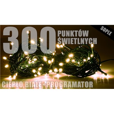 Lampki zew. sople LZS-ECO-LED-300