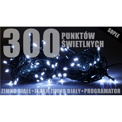 Lampki zew. sople LZS-ECO-LED-FLASH-300