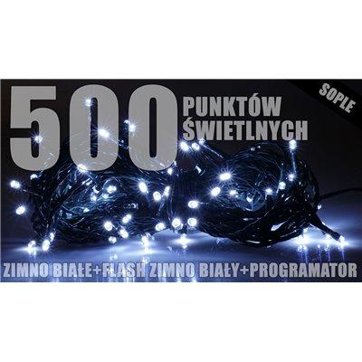 Lampki zew. sople LZS-ECO-LED-FLASH-500
