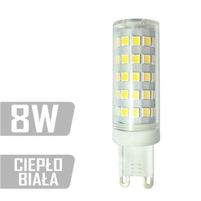Żarówka LED-G9TC-64xLED-8W CB G9 230V