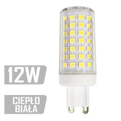 Żarówka LED-G9TC-88xLED-12W CB G9 230V
