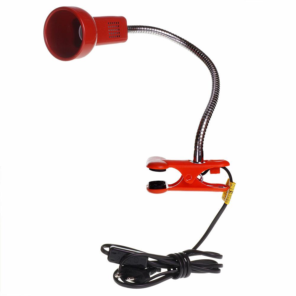 Lampka biurkowa L3A z klipsem E14 40W czerwona