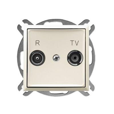 Gniazdo RTV przelotowe 14-dB ARIA ECRU