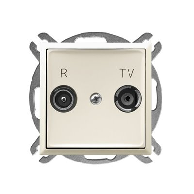 Gniazdo RTV przelotowe 16-dB ARIA ECRU