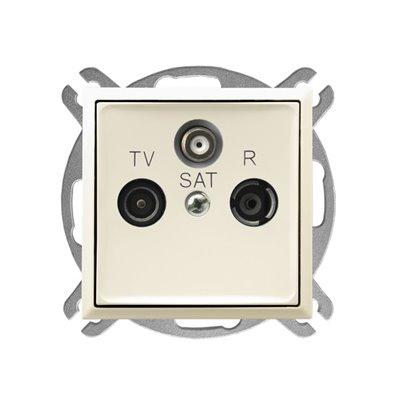 Gniazdo RTV-SAT przelotowe ARIA ECRU