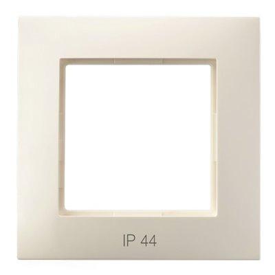 Ramka pojedyncza do łączników IP-44 ARIA ECRU