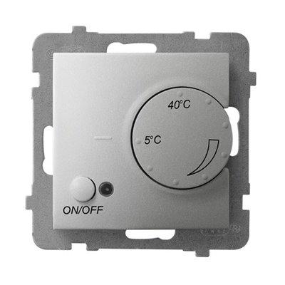 Regulator temperatury z czujnikiem podpodłogowym ARIA Srebro