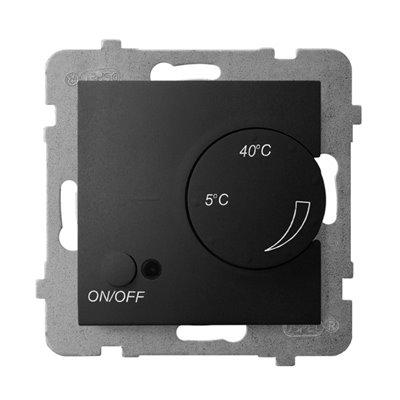 Regulator temperatury z czujnikiem napowietrznym ARIA CZARNY METALIK