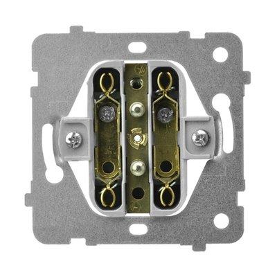 Mechanizm gniazda podwójnego do ramki z uziemieniem ARIA (elementy) BIAŁY