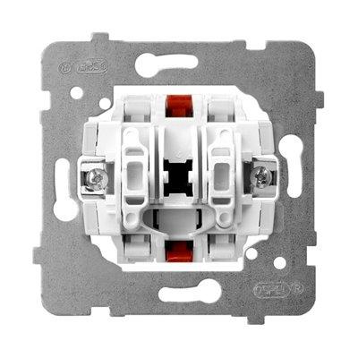 Mechanizm łącznika podwójnego schodowego ARIA (elementy) BIAŁY