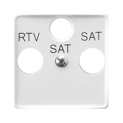 Pokrywa gniazda RTV-SAT z dwoma wyjściami SAT ARIA (elementy) BIAŁY