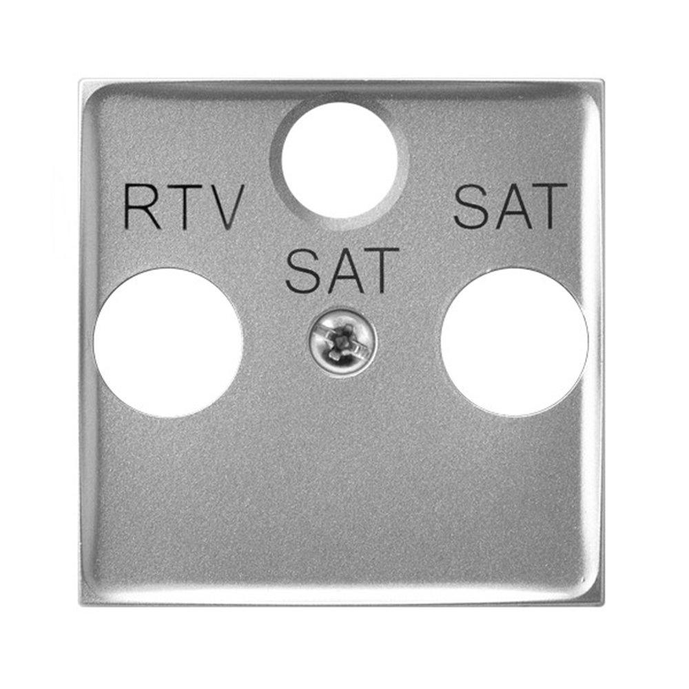 Pokrywa gniazda RTV-SAT z dwoma wyjściami SAT ARIA (elementy) Srebro