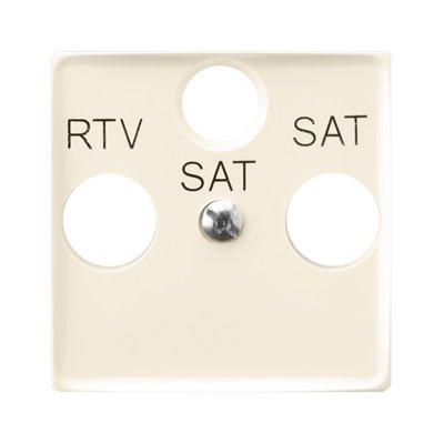 Pokrywa gniazda RTV-SAT z dwoma wyjściami SAT ARIA (elementy) ECRU