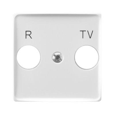 Pokrywa gniazda RTV końcowego ARIA (elementy) BIAŁY