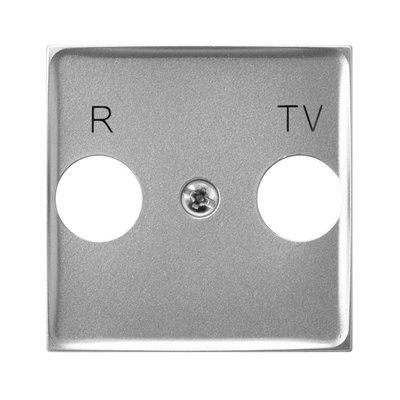 Pokrywa gniazda RTV końcowego ARIA (elementy) Srebro