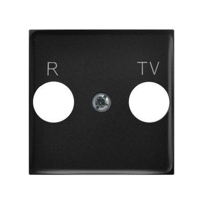 Pokrywa gniazda RTV końcowego ARIA (elementy) CZARNY METALIK