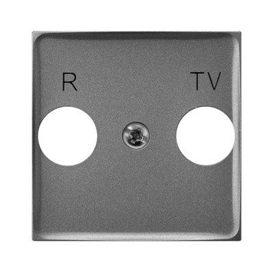Pokrywa gniazda RTV końcowego ARIA (elementy) SZARY MAT