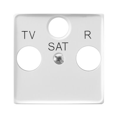 Pokrywa gniazda RTV-SAT końcowego ARIA (elementy) BIAŁY