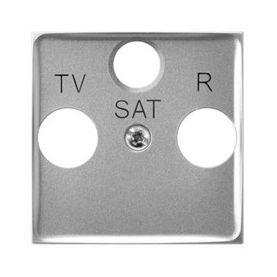 Pokrywa gniazda RTV-SAT końcowego ARIA (elementy) Srebro