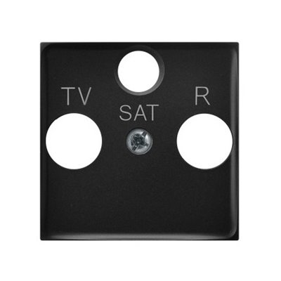 Pokrywa gniazda RTV-SAT końcowego ARIA (elementy) CZARNY METALIK