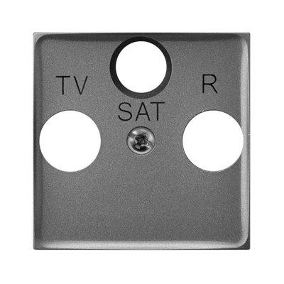 Pokrywa gniazda RTV-SAT końcowego ARIA (elementy) SZARY MAT
