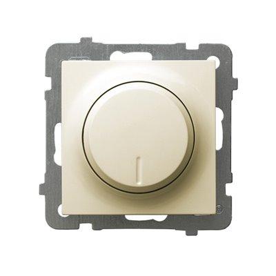 Ściemniacz przyciskowo-obrotowy przystosowany do obciążenia żarowego i halogenowego AS ECRU