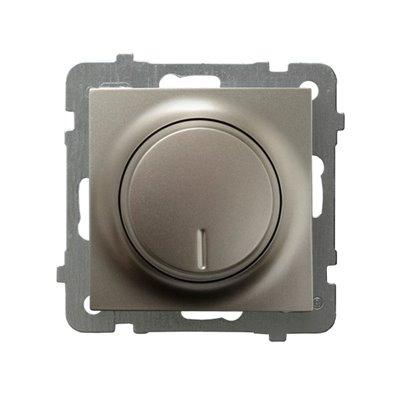 Ściemniacz przyciskowo-obrotowy przystosowany do obciążenia żarowego i halogenowego AS SATYNA LIGHT