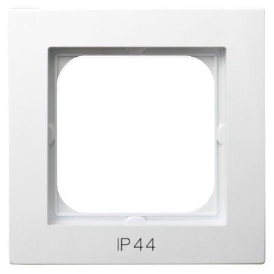 Ramka pojedyncza do łączników IP-44 AS BIAŁY