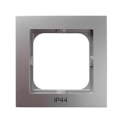 Ramka pojedyncza do łączników IP-44 AS SREBRO