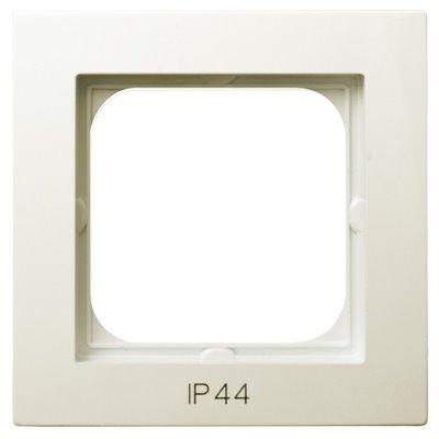 Ramka pojedyncza do łączników IP-44 AS ECRU