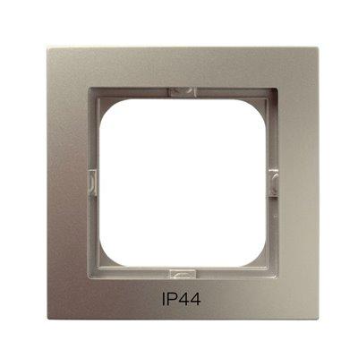 Ramka pojedyncza do łączników IP-44 AS SATYNA LIGHT