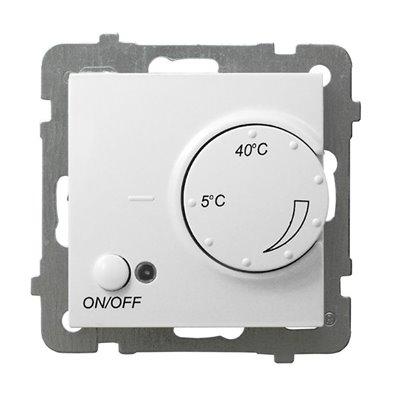 Regulator temperatury z czujnikiem podpodłogowym AS BIAŁY