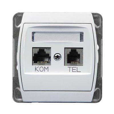Gniazdo komputerowo-telefoniczne, kat. 6 MMC GAZELA BIAŁY