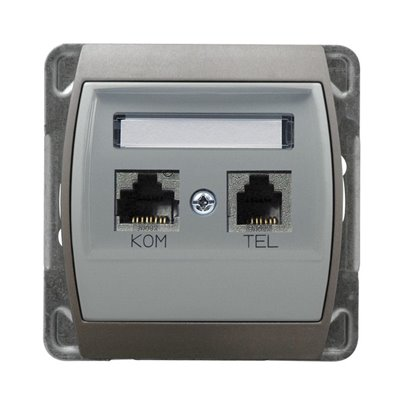 Gniazdo komputerowo-telefoniczne, kat. 6 ekranowane MMC GAZELA SREBRO/TYTAN