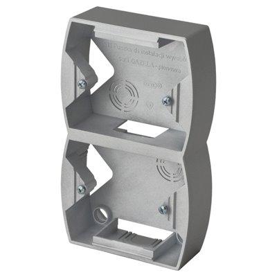 Puszka instalacyjna do serii GAZELA podwójna pionowa GAZELA SREBRO/TYTAN