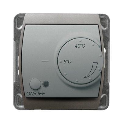 Regulator temperatury z czujnikiem podpodłogowym GAZELA SREBRO/TYTAN