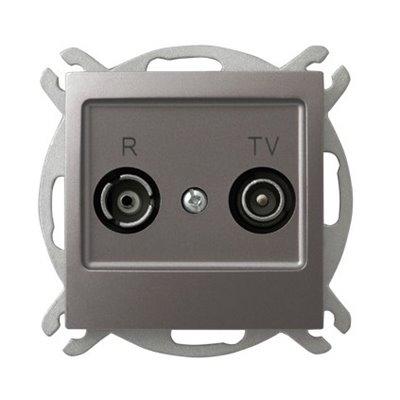 Gniazdo RTV przelotowe 14-dB IMPRESJA TYTAN