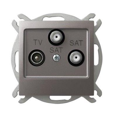 Gniazdo RTV-SAT z dwoma wyjściami SAT IMPRESJA TYTAN