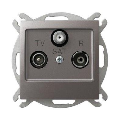 Gniazdo RTV-SAT przelotowe IMPRESJA TYTAN