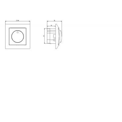 Ściemniacz przyciskowo-obrotowy przystosowany do obciążenia żarowego i halogenowego IMPRESJA TYTAN