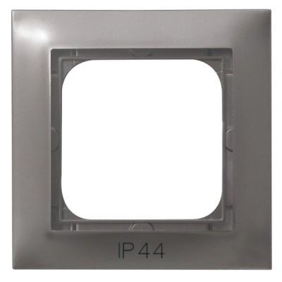 Ramka pojedyncza do łączników IP-44 IMPRESJA TYTAN