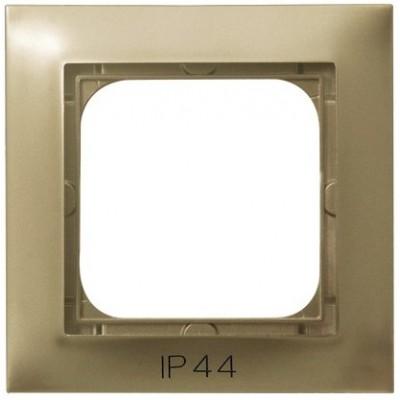 Ramka pojedyncza do łączników IP-44 IMPRESJA ZŁOTY METALIK