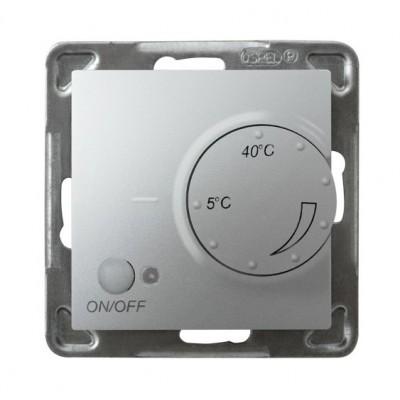 Regulator temperatury z czujnikiem podpodłogowym IMPRESJA SREBRO
