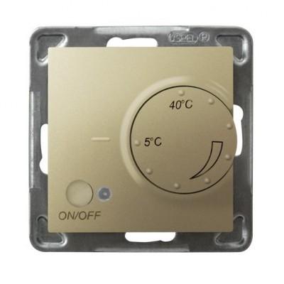 Regulator temperatury z czujnikiem podpodłogowym IMPRESJA ZŁOTY METALIK