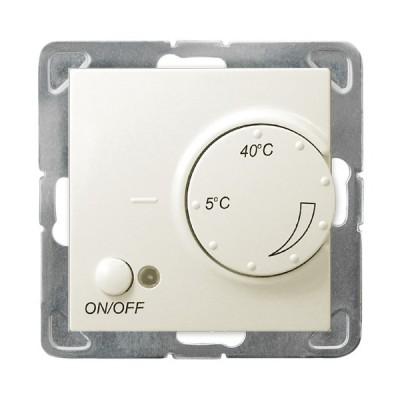 Regulator temperatury z czujnikiem napowietrznym IMPRESJA ECRU