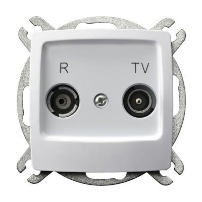 Gniazdo RTV przelotowe 10-dB KARO BIAŁY