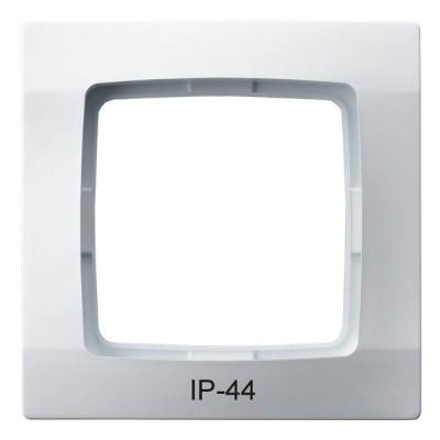 Ramka pojedyncza do łączników IP-44 KARO BIAŁY