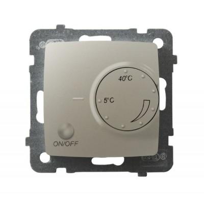 Regulator temperatury z czujnikiem podpodłogowym KARO ECRU PERŁOWY