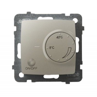 Regulator temperatury z czujnikiem napowietrznym KARO ECRU PERŁOWY
